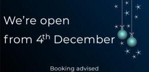 Enjoy our Christmas À la carte menu on the MV Cill Airne Boat Bar & Restaurant